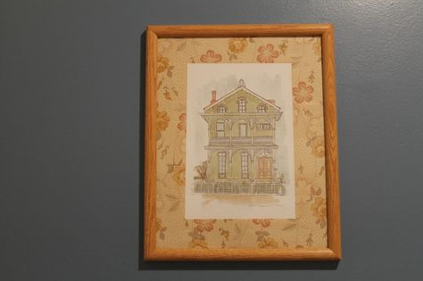 use craft paper or wallpaper as matting