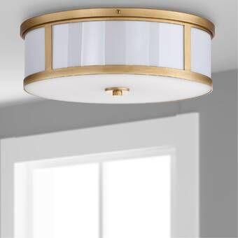 Dian 2 Light 12 Simple Drum Flush Mount Drum Light Ceiling