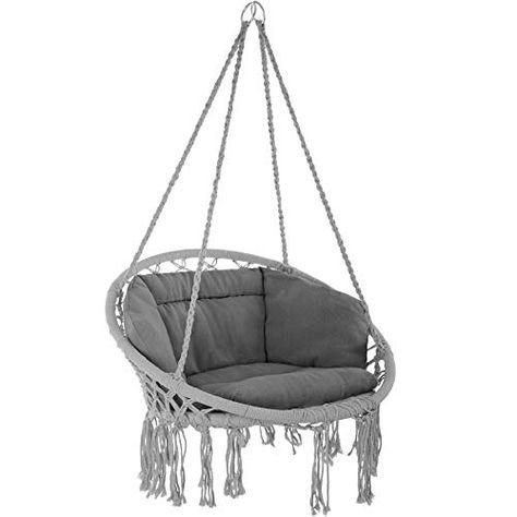 Tectake 800708 Fauteuil Suspendu Relax Design De Jardin En Coton 1 Place Interieur Et Exterieur Coussins Co En 2020 Fauteuil Suspendu Fauteuil Hamac Chaise Multicolore