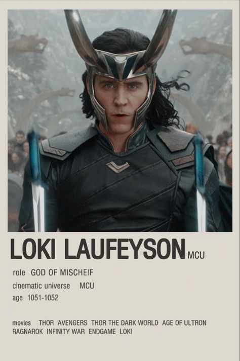 Loki laufeyson minimalist poster