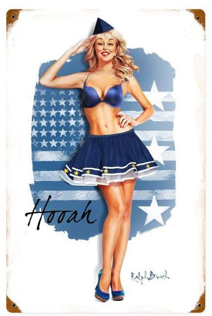 Air Force Girl  Metal Sign 12 x 18 Inches, $29.98 #vintage #retro #nostalgia #tinsign #homedecor #pinup
