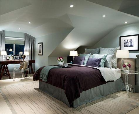 High Quality Elegant+Contemporary+Bedroom+by+Jane+Lockhart+on+HomePortfolio Love The  Paint Color And The Recessed Lighting :) Donu0027t Love The Lucite.
