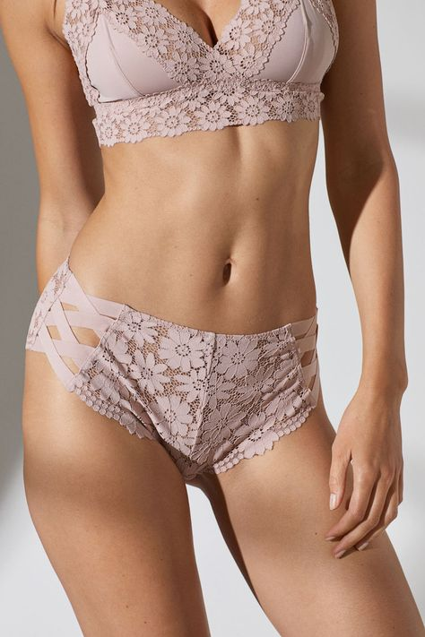 Lace Hipster Briefs - Powder pink - Ladies | H&M US 2