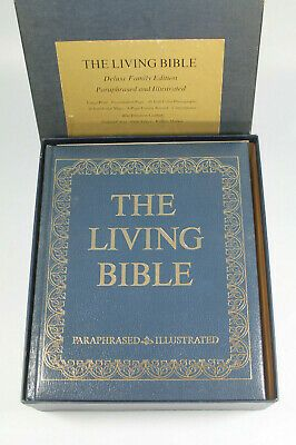 The Living Bible Deluxe Family Edition 1973 Excellent Condition In Original Box New American Standard Paraphrased Audio