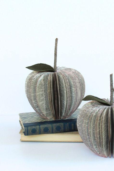 SPANISH DICTIONARY Book Apple /// teacher gift /// by