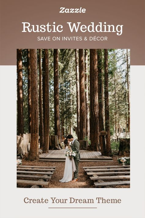 Rustic Wedding Invites & Decor - Zazzle