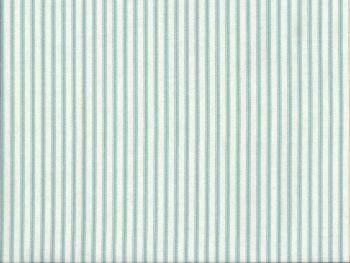 Farmhouse Ticking Stripe Fabric Turquoise Ivory Eta Mid Oct 2020 Ticking Stripe Striped Fabrics Fabric