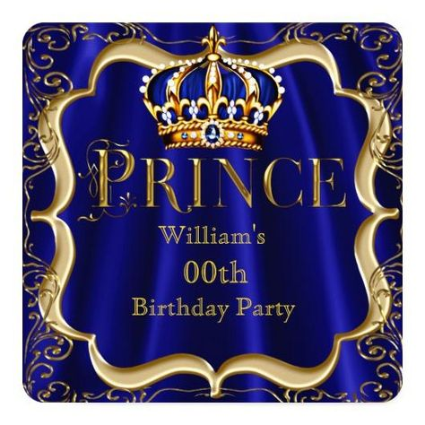prince mens birthday party – Invitations 4 U