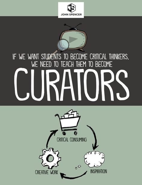 Content curation is a vital part of the creative process. Explore why curation matters and how we can help students learn how to engage in the curation process.