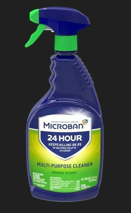 Microban 24 Cleaner Bathroom Fresh Scent 32oz Free Shipping Mircoban In 2020 Fresh Scent Multipurpose Cleaner Cleaners