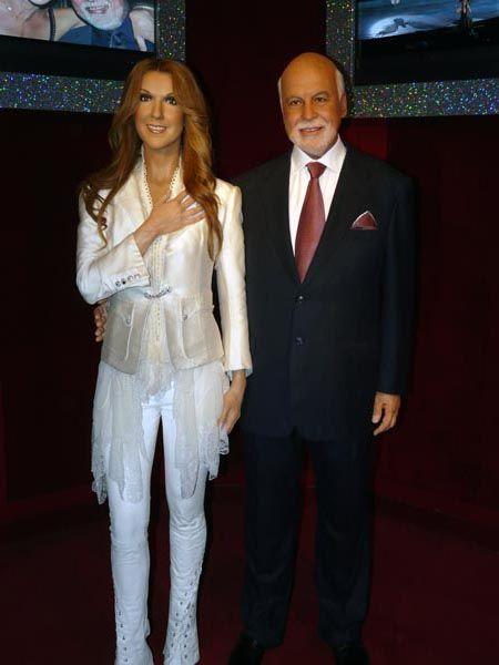 Celine Dion & Rene Angelil wax figures