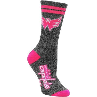 Women's Washington Capitals Gray Two-Stripe Marble