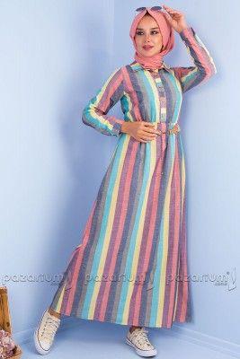 Pazarium Com Tr Adli Kullanicinin Tesettur Elbise Modelleri Panosundaki Pin Giyim Elbise Modelleri Moda Stilleri