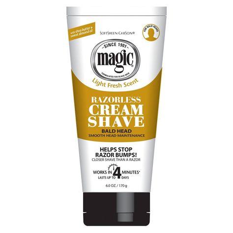 Softsheen Carson Magic Razorless Cream Shave Smooth Bald Head