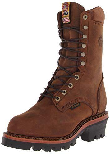 65a0217c9e68b Justin Original Work Boots Men's Jmax Logger Work Boot Review   Work ...
