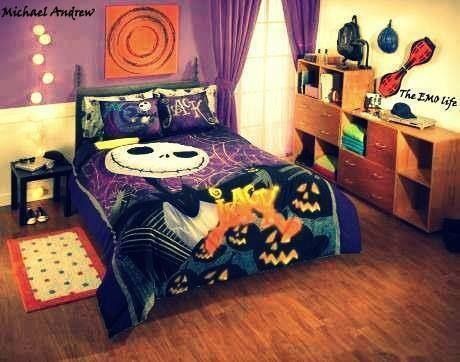 the nightmare before christmas bed set! | the nightmare before