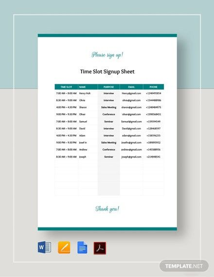 Sign Up Sheet Template In 2021 Templates Word Doc Signup