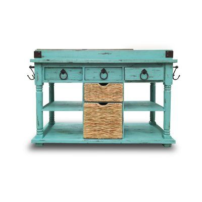 August Grove Colyt Kitchen Island Rustic Kitchen Design Rustic Kitchen Kitchen Design Diy