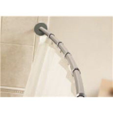 Home Shower Rod Brushed Nickel Brushed Stainless Steel