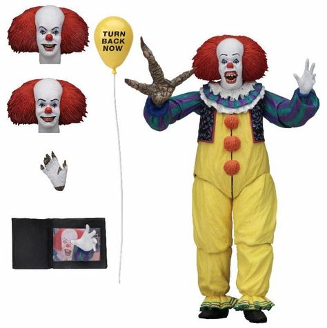 """IT Pennywise CLOWN HORROR 7/"""" Azione Figura Toys NECA-Stephen King/'S"""
