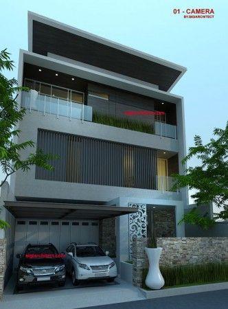 rumah mewah 3 lantai modern minimalis 4 | desain rumah
