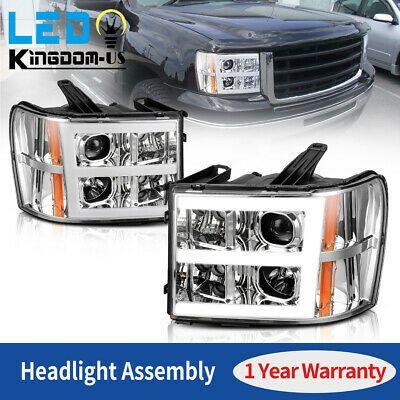 For 2007 2013 Gmc Sierra 1500 2500 3500 Led Tube Projector Headlights Headlamps Ebay In 2020 Gmc Sierra 1500 Gmc Sierra Sierra 1500