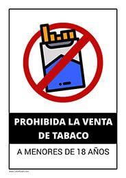 Cartel De Prohibida La Venta De Tabaco A Menores Vending Tabaco Cigarrillos Carteles De Seguridad Cartel Diseño De Menu