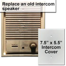 Vintage Door Bell Intercom Speaker Cover Up Wall Plate Cover Intercom Plates On Wall
