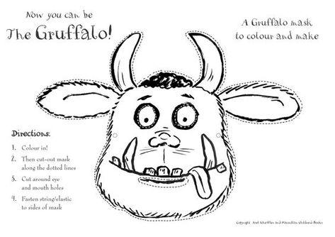 Cool Gruffalo Mask Gruffelo Buchprojekte Malvorlagen