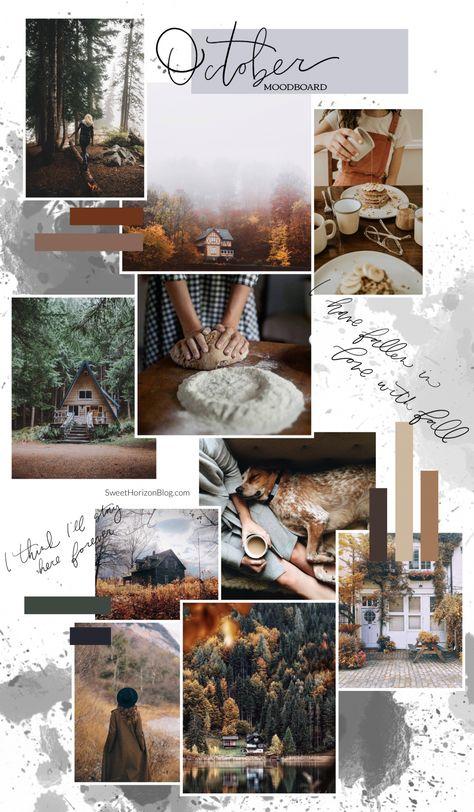 October Background Monthly Goals 2018 Moodboard Sweet Horizon Studio Blog | Brandboard | Handlettering | Calligraphy | Handwriting | Blush Tones | Blush and Grey | Color Scheme | Color Palette | Feminine Colors | Feminine Moodboard |