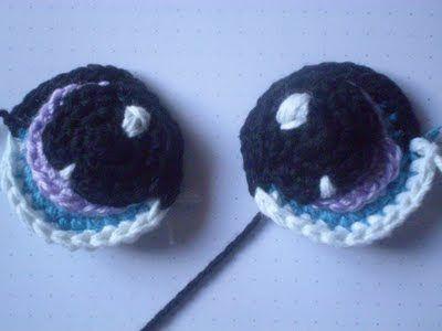 Crochet Eyes: free #crochet pattern (use translate)