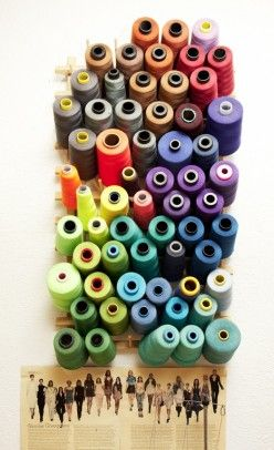 #sewing #thread display by Brian Lichtenberg, beautiful #color inspiration