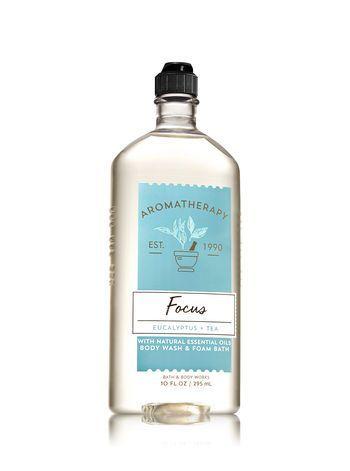 Aromatherapy Focus Eucalyptus Tea Body Wash Foam Bath Bath
