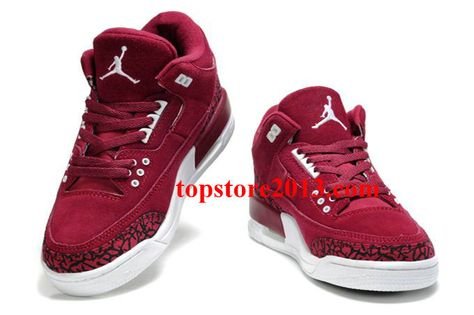 pretty nice b5949 4f75f Air Jordan 3 Womens Fluff Burgundy Black White