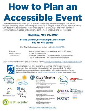Public Forum How To Plan An Accessible Event Universal Design