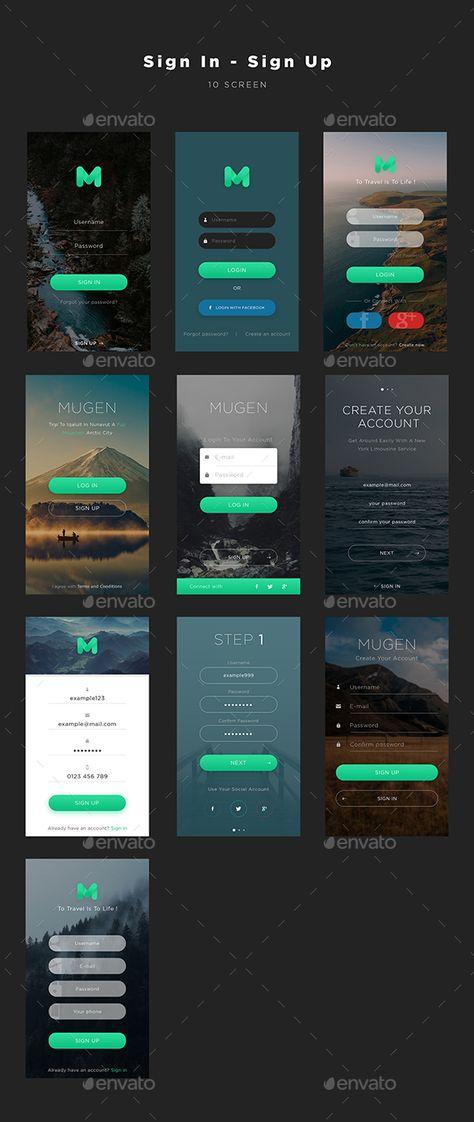 Mugen App UI KIT – Sign In & Sign Up by framgia