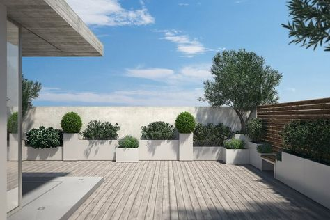 Fioriere Moderne Per Terrazzi.Fioriere E Vasi Bloss Nel 2019 Idee Giardino Terrazzo