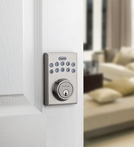 Kwikset 92640 001 Contemporary Electronic Keypad Single Cylinder Deadbolt With 1 Touch Motorized Locking Satin Nicke Deadbolt Single Cylinder Deadbolt Kwikset