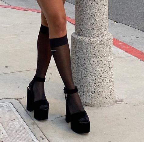 miu miu x prada via Matilda Djerf 🎯 Source by basicbandwagon miu shoes Look Fashion, Fashion Shoes, Fashion Outfits, Womens Fashion, High Fashion, Fashion Ideas, Ladies Fashion, Prada Outfits, Fashion Beauty