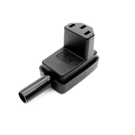 IEC C13 Left Angled Rewireable Connector