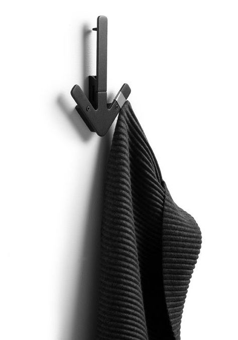 Arrow Hanger Wandhaken Schwarz Design House Stockholm