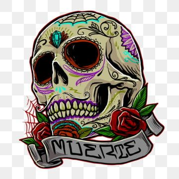 Muertos Skull Vector Design Skull Horror Creep Png Transparent Clipart Image And Psd File For Free Download In 2020 Vector Design Human Clipart Skull Painting