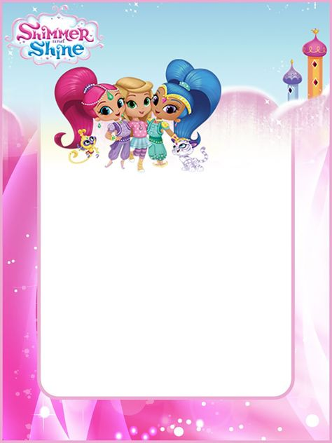 Free Shimmer And Shine Invitation Card Invitaciones De