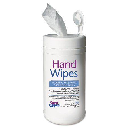 2xl Alcohol Free Hand Sanitizing Wipes 7 X 8 White Alcohol