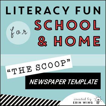 The Scoop Editable Student Newspaper Template Class Newspaper
