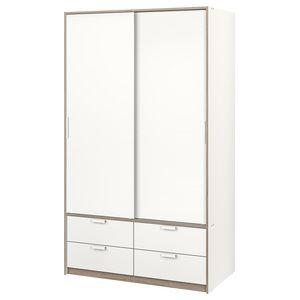 Ikea Trysil Fataskapur 118x61x202 Cm Hvitt Ikea Trysil Trysil Adjustable Shelving