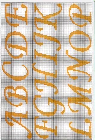 Resultado De Imagem Para Alfabeto Com Coroa Em Ponto Cruz Para