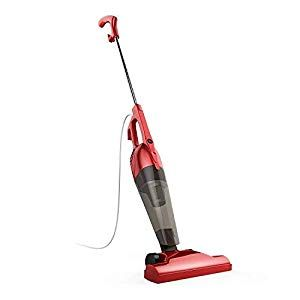 Bestek Corded Electric Broom Lightweight Stick Vacuum Cleaner Handheld 2 In 1 With Hepa Filtration Red Electric Broom Stick Vacuum Handheld Vacuum Cleaner