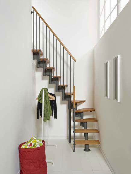 Escalera Nice4 En L Ref 17192056 Leroy Merlin Escaleras Para Casas Pequenas Diseno De Escalera Escaleras Interiores