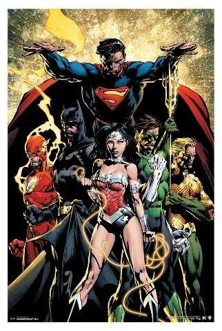 Justice League Poster DC Comics Superman Batman Wonder Woman Flash Cyborg 34x22